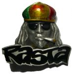 Rasta Man Pin Badge